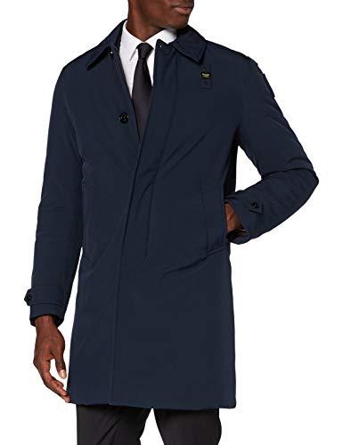 cappotto uomo blu Blauer Impermeabile/Trench Lunghi Imbottito Piuma Cappotto