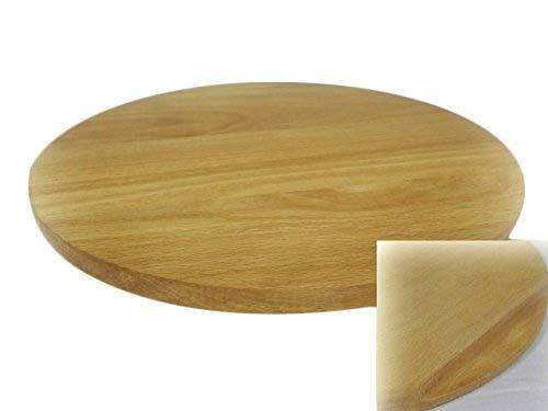 Wooden World Rundes Pizza-Brett aus Holz, Schneidebrett, Schneidebrett, Servierbrett für Pizza, Massivholz, 35 cm