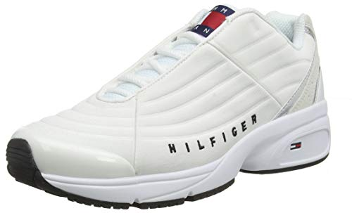 Tommy Hilfiger Wmn Heritage Tommy Jeans Sneaker, Zapatillas para Mujer, White Ybs, 41 EU