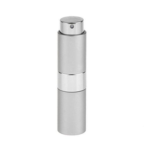 T TOOYFUL Maquillage Vide Bouteille De Pulvérisation De Parfum De Pompe En Métal 15ML Pour L'huile Essentielle De Parfum - Argent