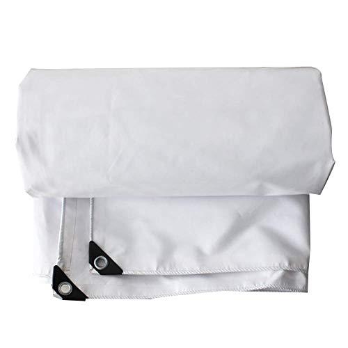 Lona Impermeable Resistente a la Lluvia Protección Solar Anti-UV Hardy Tela de poliéster Duradera Toldo al Aire Libre Camping Blanco 11 tamaños (Color: Blanco Tamaño: 3.0X4.0M)