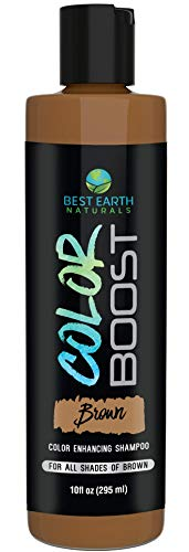 Color Boost Brown Color Depositing Shampoo for All Shades of Brown Hair Add Hair Color or Cover Gray Hair for Men and Women 10 Ounces
