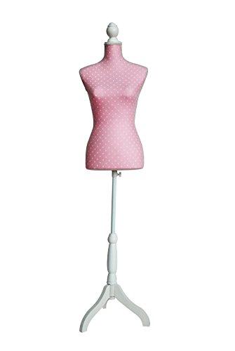 Clarie Ballerina Cuerpo del Bustos y Tres Patas, Ante, Rosado, 83x37.5x24 cm