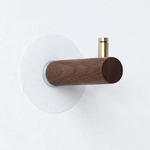 HYZXK Nogal Latón Retro Creativo Abrigo montado en la Pared Hoo Multifuncional Gancho de Toalla Decorativo 2PCS-C4 Anticorrosión Antióxido Fuerte Soporte de Carga