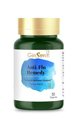 GinSen Antiviral Tablets Anti-Flu Helps Cold, Fever, Sore Throat, Headache,...