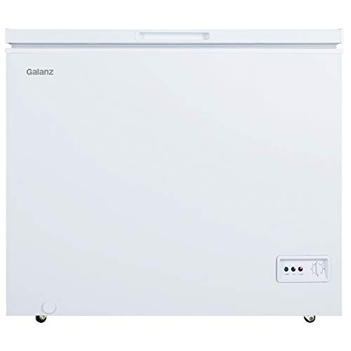 Galanz GLF70CWED01 Manual Defrost Chest Freezer, Mechanical Temperature Control, White, 7.0 Cu Ft