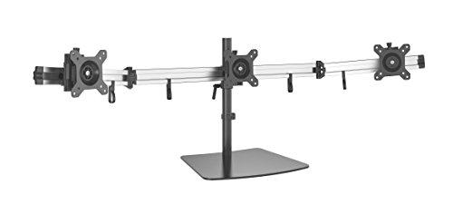 HFTEK 3-Fach-Monitor Tisch Stand Ständer Halterung Halter Tischhalterung für 3 Bildschirme von 15 – 27 Zoll (MP230S-L)