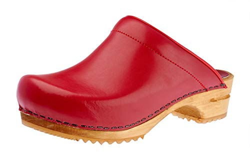 Sanita Women's Open-Back Clogs, Red, 7.5