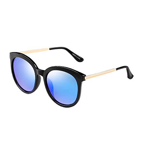 Ronde Retro Polaroid zonnebril voor Vrouwen Mannen PARZIN UV400 bescherming Kleur Lens Cat-eye Kleine Cirkel Acetaat Frame Oversized zonnebril