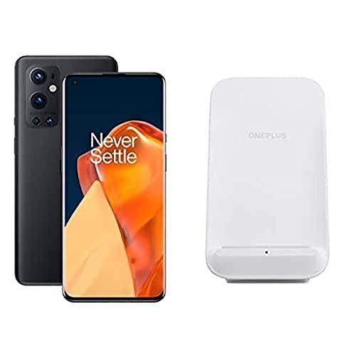 ONEPLUS 9 Pro 5G SIM-freies Smartphone mit Hasselblad-Kamera für Smartphones - Stellar Black 8GB RAM 128 GB - 2 Jahre Garantie + ONEPLUS 50W Wireless Charger