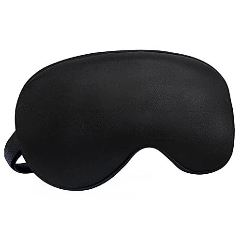 Audamp Schlafmaske Augenmaske Nachtmaske Verstellbarem band 100{43af2c422301bca50575bfaf7b8476e7cfe5b9f5ec7885c9061fda085eb584b7} Hautfreundlich Seide Ultraweiche Schlafbrille (1-Pack, Schwarz)