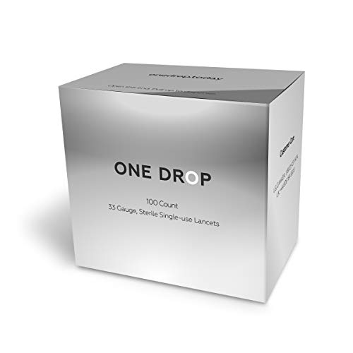 One Drop Universal 33-Gauge Lancets (100 Count) for Nearly Painless Blood Sugar Testing