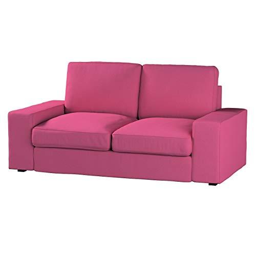 Dekoria Kivik 2-Sitzer Sofabezug Husse passend für IKEA Modell Kivik, rosa