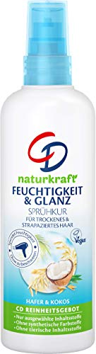 CD Naturkraft Feuchtigkeit & Glanz Sprühkur für trockenes & strapaziertes Haar/Vegan, 3er Pack (3 x 150 ml)