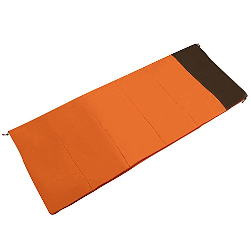 QFFL shuidai Sac de Couchage Enveloppe/Adultes / Léger Portable/Outdoor & IndoorCreative Sac de Couchage rectangulaire en Coton (2 Couleurs Disponibles) (190 * 73cm) (Couleur : Orange)