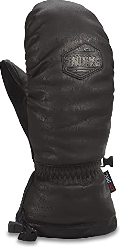 Dakine Mens Voyager Leather Mitt with Goat Leather and Fleece Lining, Black, Large