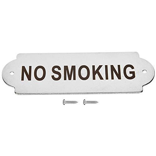 Alomejor Cartello per Porta Targa a Muro Targa per Recinzione Avviso Recinzione Palo Giardino Casa Porta di casa Porta WC Segnale di Avvertimento(Vietato Fumare)