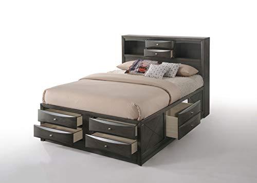 ACME Furniture Ireland Full Storage Bed, Gray Oak