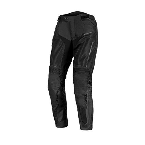 REBELHORN Hiflow IV Textile Motorradhose für Männer Knieschützer Membran rutschfeste Paneele Reflektierende Elemente Lüftungstaschen Flexible Paneele