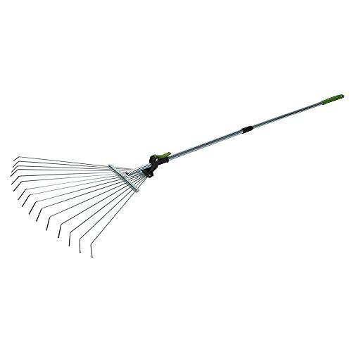 Silverline tools 228465 - Rastrello con manico telescopico (800-1500 mm)