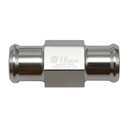 Fangaichen Sensor de Temperatura del Agua CNC Universal Koso Motorycle Guage Medher Temper Tempery Sensor Adapter 18mm 22mm para Motocicletas (Color : 18mm-Silver)