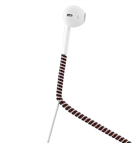 ケーブルプロテクター ケーブル収納カバー ツイスト USBケーブルプロテクター 140cm ユニバーサル TPU素材 カラフル for Android iPhone充電ケーブル 断線防止 折り防止 汚れ防止 耐摩耗性 DIY データケーブル/イヤホンライン