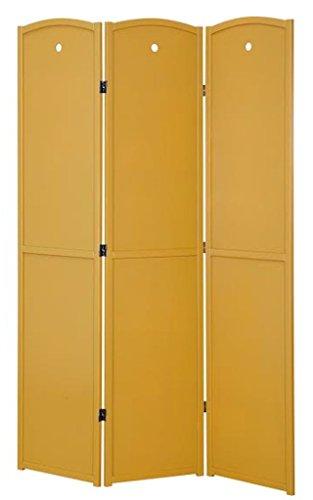 Legacy Decor 3-Panel Solid Wood Screen Room Divider, Childrens Room Divider, Honey Color