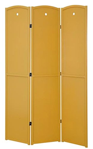 Legacy Decor 3-Panel Solid Wood Screen Room Divider, Childrens Room Divider, Honey Color