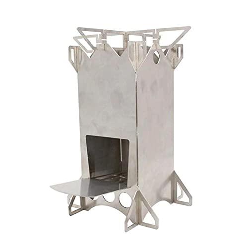 Estufa de camping portátil Estufas de leña Estufa de mochilero plegable al aire libre para Picnic BBQ Senderismo Accesorios