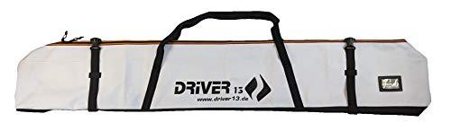 Driver13 ® Skitasche Skisack für Ski Skistoecke, Schitasche zum Aufbewahren und Transport beim Skifahren, Wasserfest 185 cm weiß (Germany Edition)