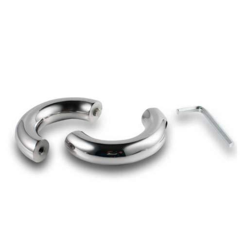 Penisringe mit Schraubverschluss verschiedene Größen Edelstahl Metall Cock Ring Größe 30 mm