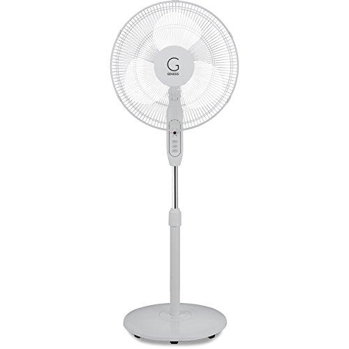 Genesis a2-standfan Basic Ventilador de pie con Mando a Distancia, Color Blanco