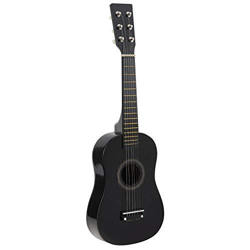 ABMBERTK , Gitarre, 23 Zoll, Black Basswood Akustikgitarre, mit Gitarren Pick Wire Strings, Musikinstrumente, für Kinder Kinder Geschenk, schwarz