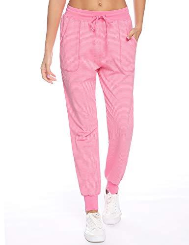 Aibrou dames pyjamabroek lang katoen nachtkleding sleep broek broek broek broek geruit