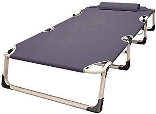 DaQingYuntur Folding Bed Bed Bed, Adjustable Four-Speed, Recliner Camping Garden Terrace Beach Indoor Outdoor Single Bed