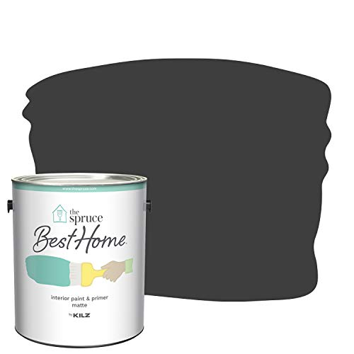 The Spruce Best Home by KILZ Interior Paint & Primer in One, Phantom Black, Matte, 1 Gallon