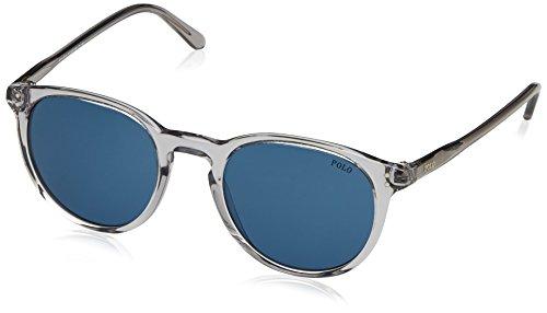 Polo Ralph Lauren Herren 0PH41101380 Sonnenbrille, Grau (Shiny Semi Trasp Grey/Darkbluee), 50