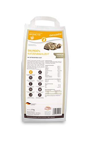 SALiNGO Premium Katzenfutter getreidefrei Geflügel Pur I hochwertiges Protein und Taurin | Hoher Fleischanteil I Katzenfutter trocken ohne Zucker