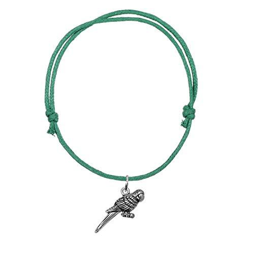 Pajarito Charm Pulseras de cordón de Cera Brazaletes Ajustables Moda con Estilo Ocho Colores Verde
