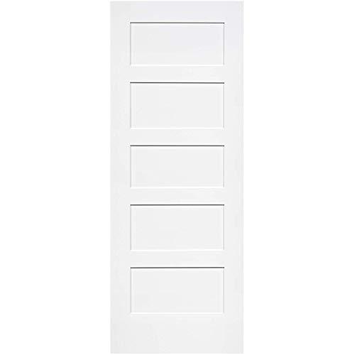 Snavely International 5-Panel Door, White Primed Shaker 80 in. x 36 in.