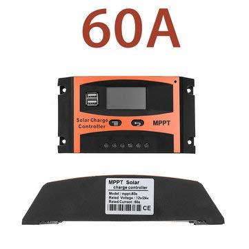 ExcLent 30A / 40A / 50A / 60A Mppt Solarladeregler 12V / 24V Lcd Genauigkeit Dual Usb Solar Panel Batterieregler Eingebauter Timer - 60A