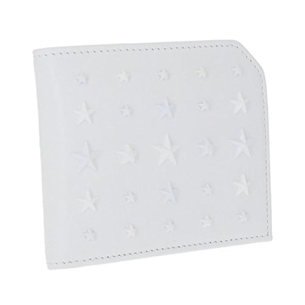 確実手足羊の服を着た狼Jimmy Choo(ジミーチュウ) 財布 メンズ SATIN LEATHER WITH MIXED STARS 2つ折り財布 WHITE ALBANY-UIG-0022 [並行輸入品]