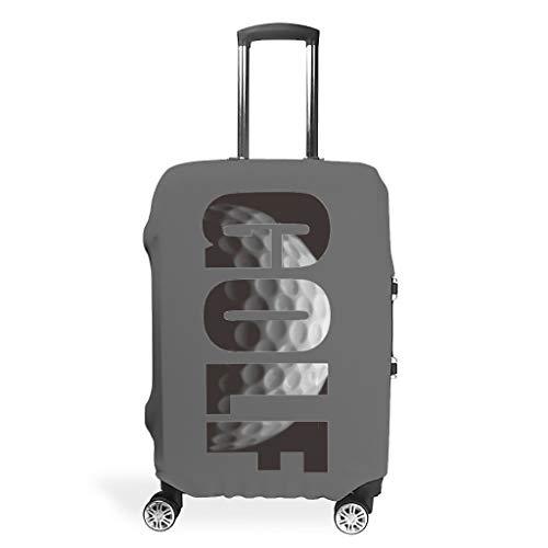 XJJ88 Funda para Maleta de Viaje, Textura de Golf, diseño con Texto en inglés Cool Player Love Unique Multi Size para Muchos Equipaje, Blanco (Blanco) - XJJ88-scc