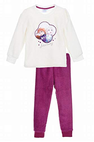 Suncity Pijama Largo Blanco coralina Frozen 5 años