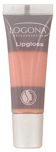 LOGONA Naturkosmetik Lipgloss No. 03 Apricot, Natural Make-up, Lippenglanz, zaubert einen brillanten...