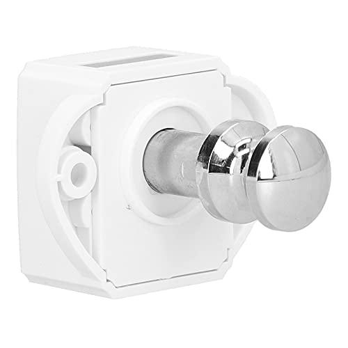 Pestillo con botón pulsador, práctico pestillo de puerta con botón pulsador Pestillo de armario con botón pulsador Durable para puerta para armario para cajón para armario