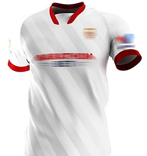 Jersey De Fútbol Sevilla, 2020/21 Camiseta para El Hogar, 15#En-Nesyri 24#Papu Gómez Rakitić, Jersey De Entrenamiento para El Ocio Diario Y Deportes Al Aire Libre, R L