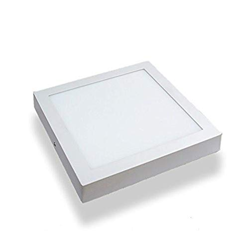Plafón LED Cuadrado 30x30 cm,24W Blanca Fria 6000k-6500k Panel LED Superficie Marco Blanco Alta Luminosidad Lámpara de Techo ONSSI LED