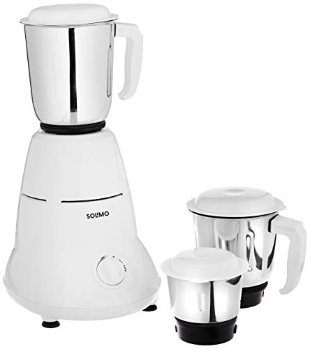 Amazon Brand - Solimo 500W Mixer Grinder (ISI certified) with 3 Jars