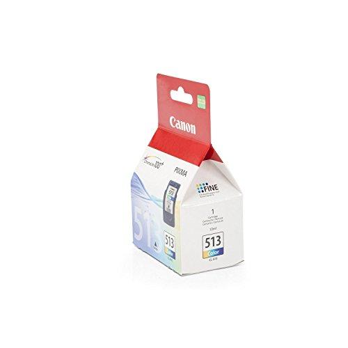 Canon CL-513 Cartucho de tinta original Tricolor para Impresora de Inyeccion de tinta Pixma MX320-MX330-MX340-MX350-MX360-MX410-MX420-MP230-MP240-MP250-MP252-MP260-MP270-MP272-MP280-MP282-MP480-MP490-MP492-MP495-MP499-IP2700-IP2702